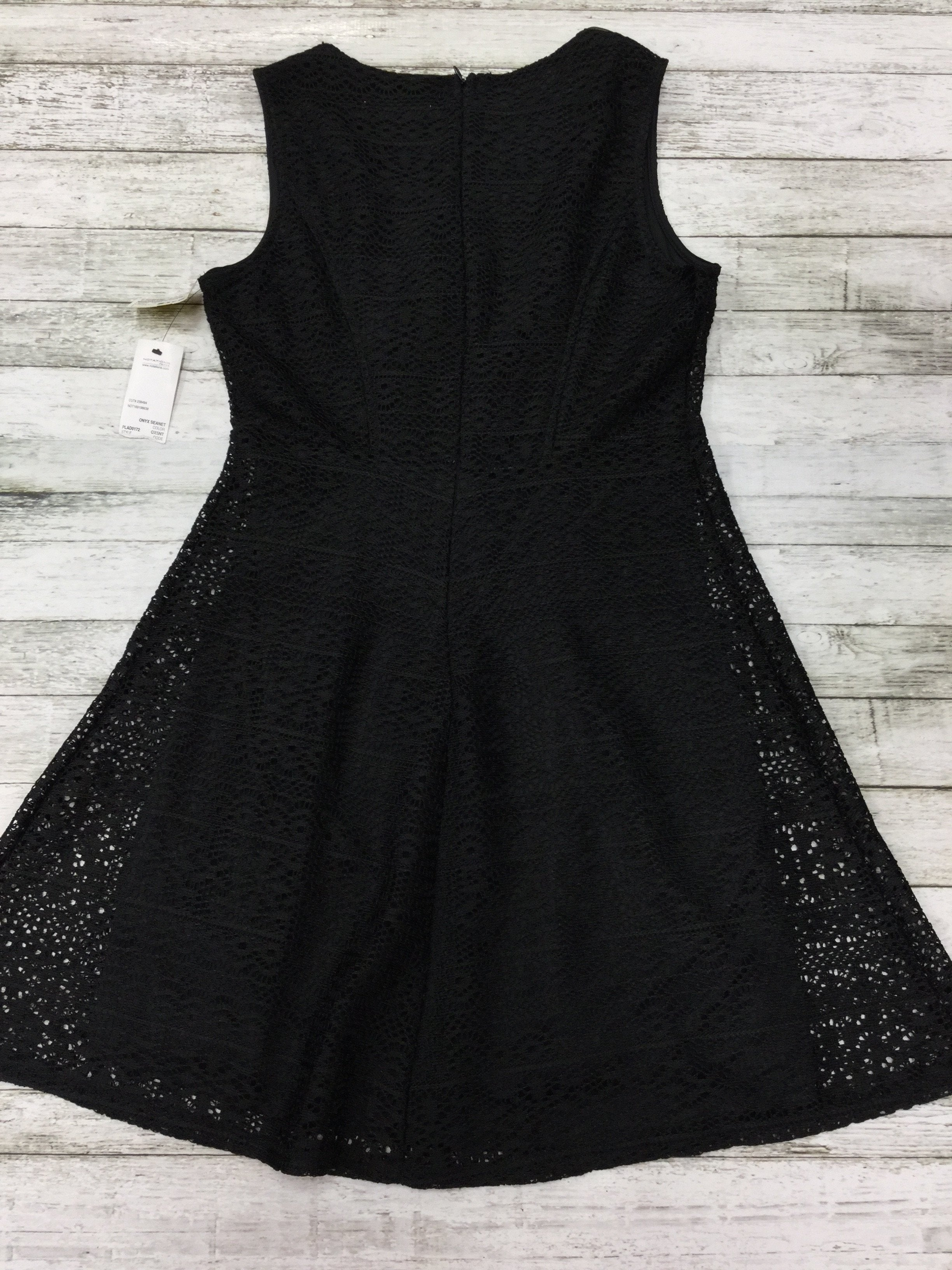 Photo #1 - brand: notations , style: dress short sleeveless , color: black , size: petite   small , other info: new! , sku: 127-2767-87717