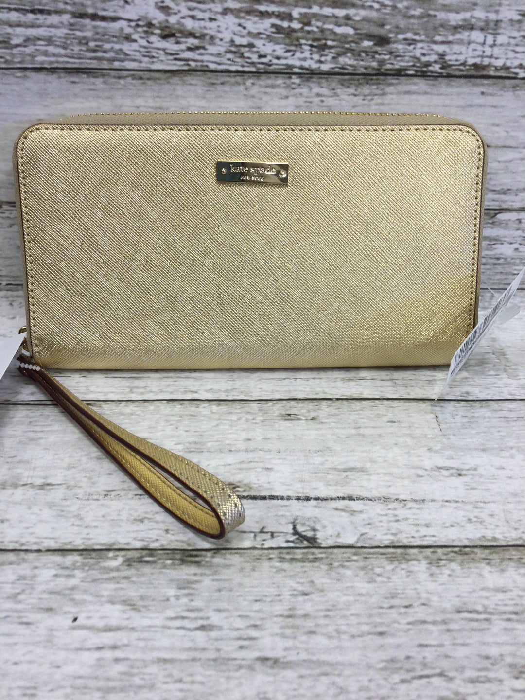 Primary Photo - brand: kate spade, style: wristlet , color: gold , sku: 127-4169-40170