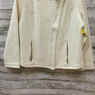 Primary Photo - BRAND: ISAAC MIZRAHI LIVE QVC STYLE: JACKET OUTDOOR COLOR: CREAM SIZE: L SKU: 129-2252-9521