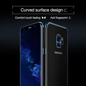 Galaxy S9 (3 in 1 Combo) Glitter Case + Tempered Glass + Earphones