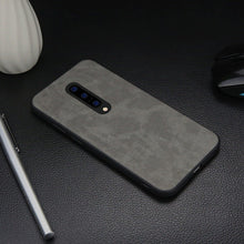Load image into Gallery viewer, OnePlus 7T Pro (3 in 1 Combo) Leather Texture Case + Tempered Glass + Camera Lens Guard