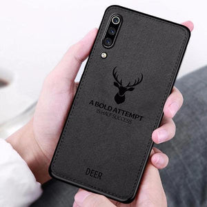 Galaxy A70 (3 in 1 Combo) Deer Pattern  Case + Tempered Glass + Earphones