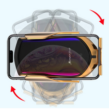Load image into Gallery viewer, Gold Auto Clamp Wireless Car Charging Mount