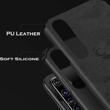Load image into Gallery viewer, Oppo F15 Shockproof Deer Leather Texture Cover