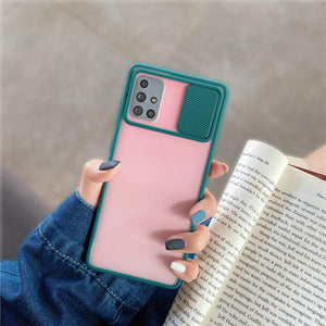 Galaxy A51 Camera Lens Slide Protection Matte Case