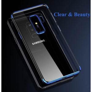 Galaxy S9 Plus (3 in 1 Combo) Glitter Case + Tempered Glass + Earphones