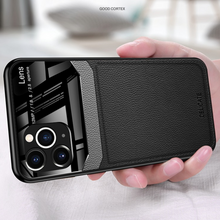 Load image into Gallery viewer, iPhone 11 Series (3 in 1 Combo) Leather Lens Case + Tempered Glass + Camera Lens Protector