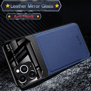 iPhone 11 Series (3 in 1 Combo) Leather Lens Case + Tempered Glass + Camera Lens Protector