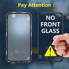Load image into Gallery viewer, iPhone Model (3 in 1 Combo) Auto-Fit Magnetic Case + Tempered Glass + Camera Lens Guard