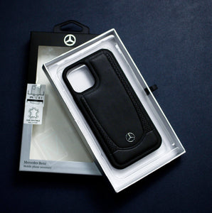 Mercedes Benz ® iPhone 12 Pro Genuine Leather Case