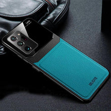 Load image into Gallery viewer, Galaxy Note 20 Ultra Sleek Slim Leather Glass Case