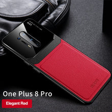Load image into Gallery viewer, OnePlus 8 Pro Sleek Slim Leather Glass Case