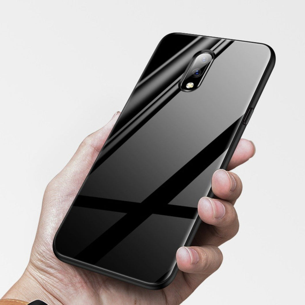 OnePlus 6T (3 in 1 Combo) Glass Back Case + Tempered Glass + Camera Lens Guard