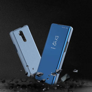 OnePlus 7T Pro (3 in 1 Combo) Mirror Flip Case + Tempered Glass + Camera Lens Guard
