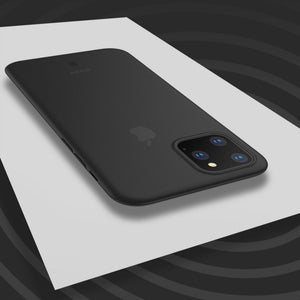 iPhone 11 Pro - Ultra-Thin Matte Paperback Case + Tempered Glass