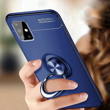 Load image into Gallery viewer, Galaxy A21s Metallic Finger Ring Holder Matte Case