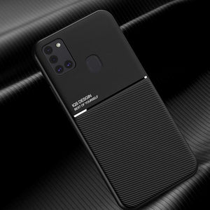 Galaxy A21s Carbon Fiber Twill Pattern Soft TPU Case