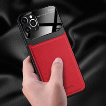 Load image into Gallery viewer, iPhone 11 Pro Max Sleek Slim Leather Glass Case