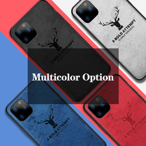 iPhone 11 Pro Max [3-in-1 Combo] Deer Case + Tempered + Lens Shield