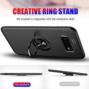 Galaxy Note 9 (3 in 1 Combo)  Ring Case + Tempered Glass + Camera Lens Guard