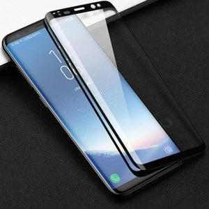 Galaxy S9 Plus  Half View Flip Case + Tempered Glass + Lens Protector
