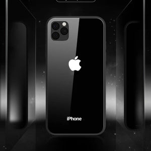 iPhone 11 Pro Max - LEKE - LED Glowing Logo Case + Tempered Glass