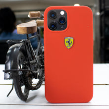 Load image into Gallery viewer, Ferrari ® iPhone 12 Pro Max Rigid Smooth Sleek Silicone Case