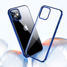 Load image into Gallery viewer, iPhone 12 Electroplating Silicone Transparent Glitter Case