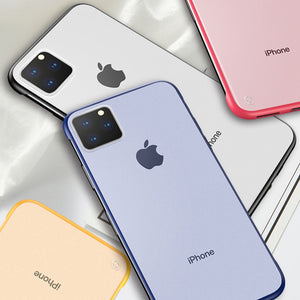 iPhone 11 Pro Max - Frameless Matte Case + Tempered Glass + Camera Lens Protector