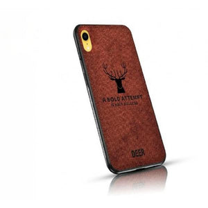 iPhone XR [3-in-1 Combo] Deer Case + Tempered + Lens Shield