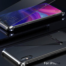 Load image into Gallery viewer, iPhone XS Frameless (Front+ Back) Magnetic Glass Case + Tempered Glass + Camera Lens Guard