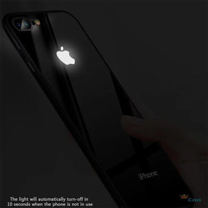 LEKE ® iPhone 7 Plus LED Light Apple Logo Glass Back Case