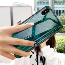 Load image into Gallery viewer, iPhone XS Max Sea Pattern Marble  Case + Tempered Glass + Camera Lens Guard