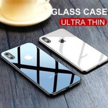 Load image into Gallery viewer, iPhone X Glass Back Case + Tempered Glass + Camera Lens Guard