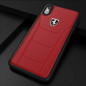 Ferrari ® iPhone X/XS Genuine Leather Crafted Limited Edition Case