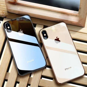 iPhone XR Glass Back Case + Tempered Glass + Camera Lens Guard