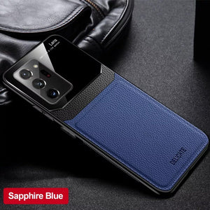Galaxy Note 20 Ultra Sleek Slim Leather Glass Case