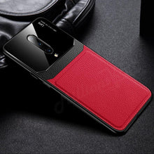 Load image into Gallery viewer, OnePlus 7 Pro (3 in 1 Combo) Leather Lens Case + Tempered Glass + Camera Lens Guard
