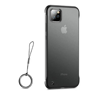iPhone 11 Pro - Frameless Matte Case + Tempered Glass + Camera Lens Protector