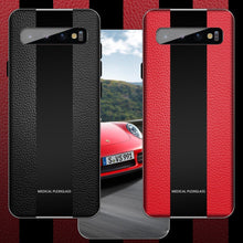 Load image into Gallery viewer, Galaxy S10 (3 in 1 Combo) Plexiglass Porsche Design Case + Tempered Glass + Camera Lens Guard