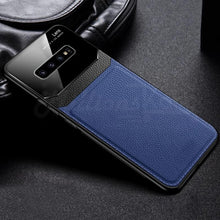 Load image into Gallery viewer, Galaxy S10 Sleek Slim Leather Glass Case