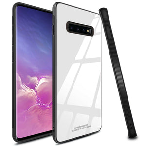 Galaxy S10  (3 in 1 Combo) Glass Back Case + Tempered Glass + Camera Lens Guard