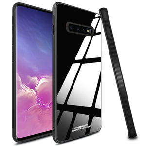 Galaxy S10 Plus (3 in 1 Combo) Glass Back Case + Tempered Glass + Camera Lens Guard