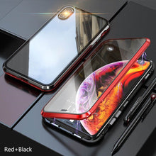 Load image into Gallery viewer, iPhone XS (Front+ Back) Glass Magnetic Case + Tempered Glass + Camera Lens Guard