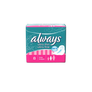 Always Ultra Thin Long Sanitary Pads 8's