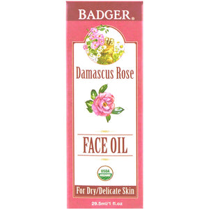 Badger Damascus Rose Face Oil 29.5 mL