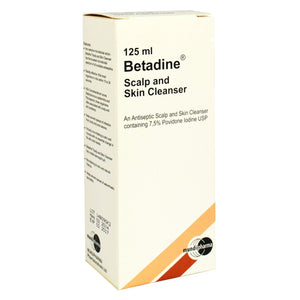 Betadine Scalp & Skin Cleanser 125 mL