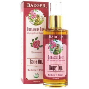 Badger Damascus Rose Body Oil 118 mL, 4 fl.oz