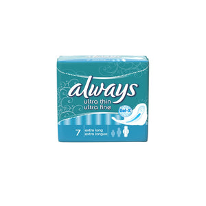 Always Ultra Thin Extra Long Sanitary Pads 7's