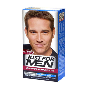 Just For Men Light Medium Brown Shampoo-In Haircolor